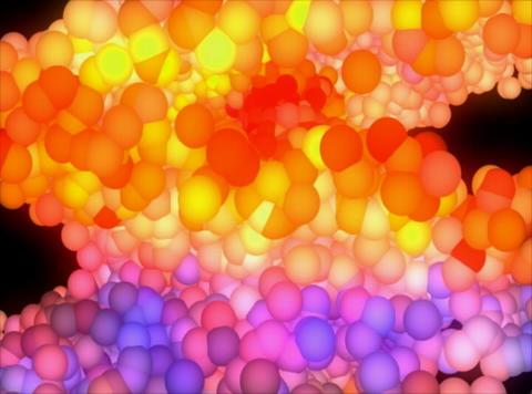 VJ Loop 408 3D Balls Orange Glow 12s Stock Video Footage