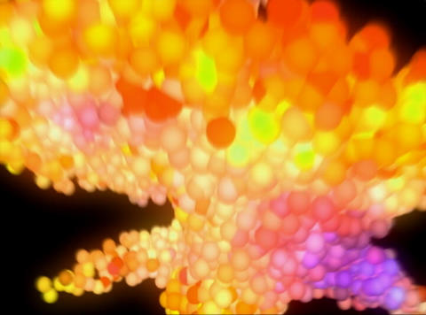 VJ Loop 410 3D Balls Orange Zoom 30s Stock Video Footage