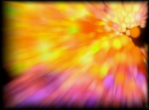 VJ Loop 410 3D Balls Orange Zoom 30s Animation