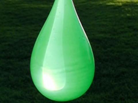 Balloon Explosion Green 02 Stock Video Footage