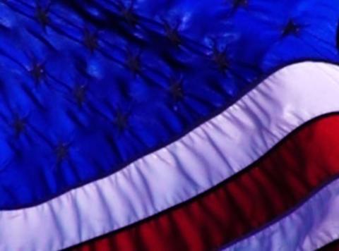 American Flag 010 Loop Stock Video Footage