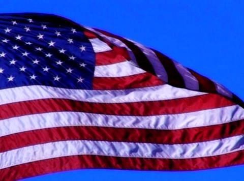 American Flag 02 Loop Stock Video Footage