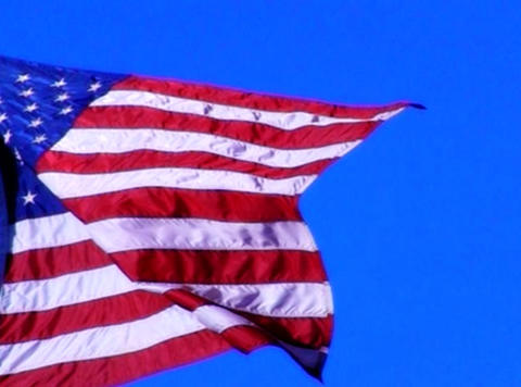 American Flag 02 Loop Stock Video Footage