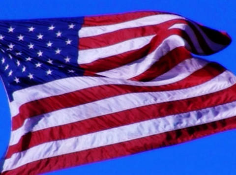 American Flag 04 Loop Stock Video Footage