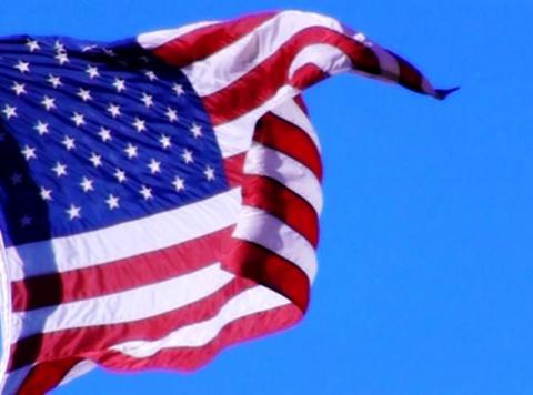 American Flag 06 Loop Stock Video Footage