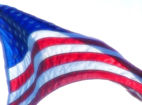American Flag 08 Loop Stock Video Footage