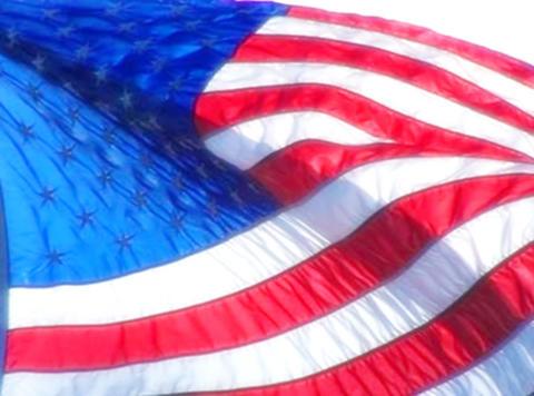 American Flag 08 Loop Stock Video Footage