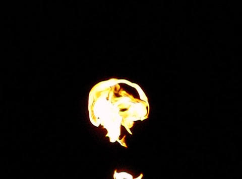 Fire 016 Blow up Mid Loop Stock Video Footage