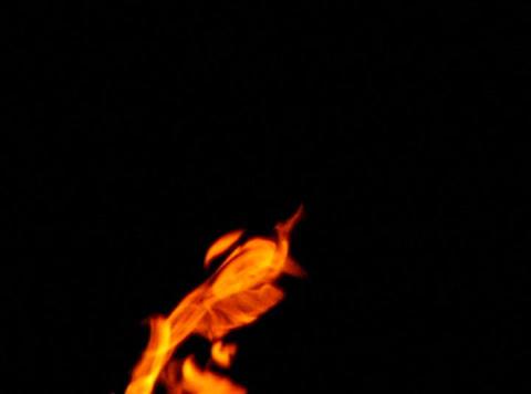 Fire 018 Blow up Side Loop Stock Video Footage