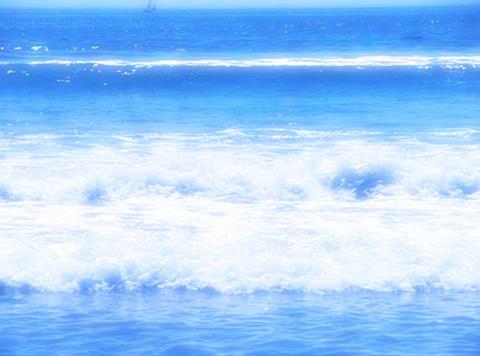 Man running through ocean waves Stock Video Footage