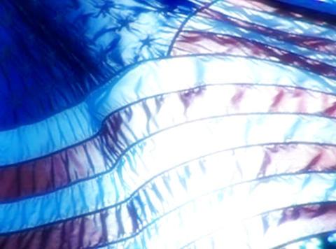 American Flag Sunset 02 Loop Stock Video Footage