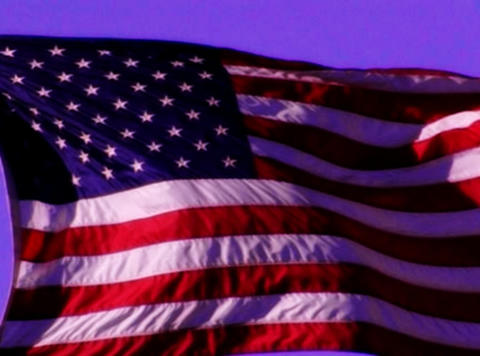 American Flag Sunset 03 Loop Stock Video Footage
