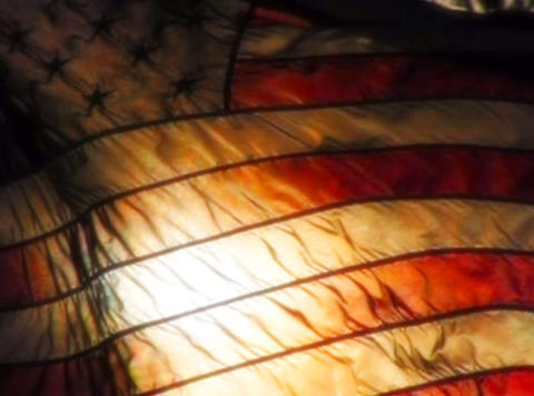 American Flag Sunset 07 Loop Stock Video Footage