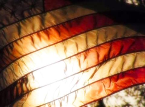 American Flag Sunset 07 Loop Stock Video Footage