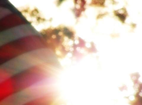 American Flag Sunset 09 Loop Stock Video Footage