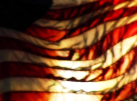 American Flag Sunset 09 Loop Stock Video Footage