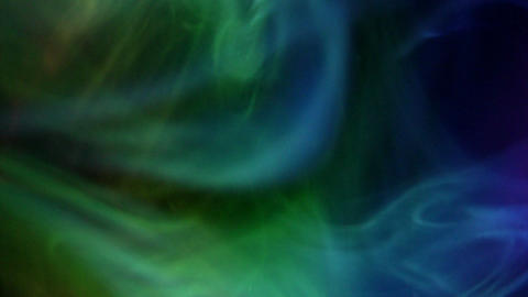 Multi-colored smokes in the dark Stock Video Footage