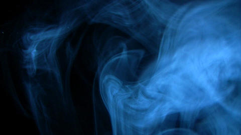 Looping blue smoke all around Stock Video Footage