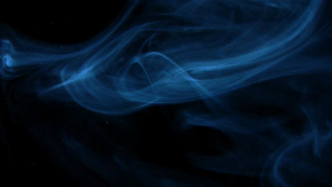Looping blue smoke all around Footage