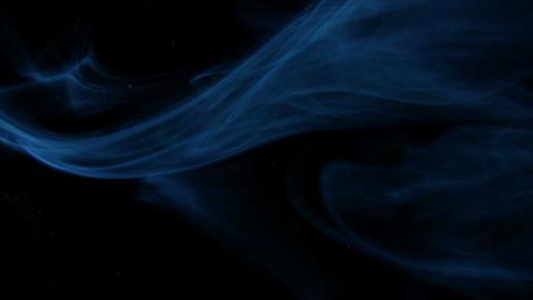Looping blue smoke all around Stock Video Footage