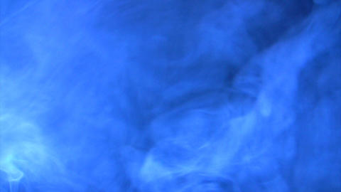 Blue lighting smoke effect Stock Video Footage