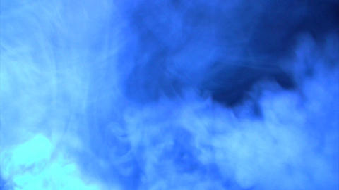 Blue lighting smoke effect Footage