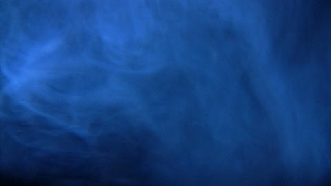 Bluish smoky environment Stock Video Footage