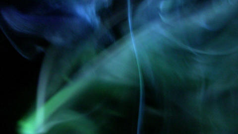 Colourful smoke with lighting effects Stock Video Footage
