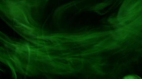 Smoke Green 03 Loop Stock Video Footage