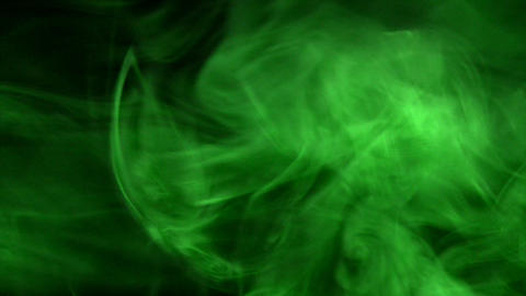 Smoke Green 03 Loop Stock Video Footage