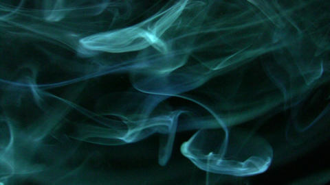 Smoke Green Blue 02 Loop Stock Video Footage
