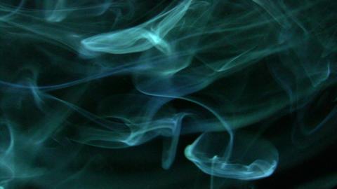 Smoke Green Blue 02 Loop Stock Video Footage