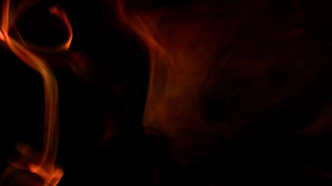 Strong fire in the dark Stock Video Footage