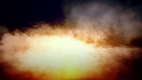 Flight through white clouds in a dark sky Stock Video Footage