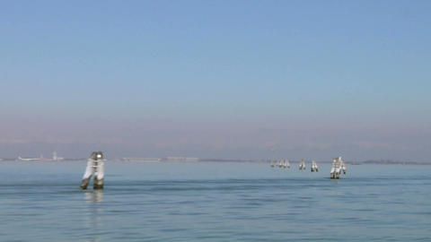 venetian lagoon 03 Stock Video Footage