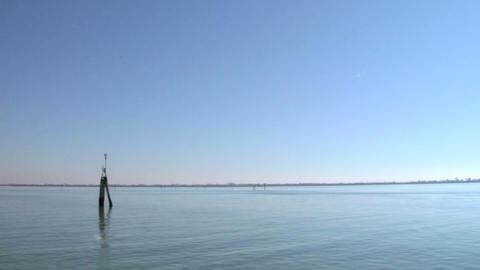 venetian lagoon 05 Stock Video Footage