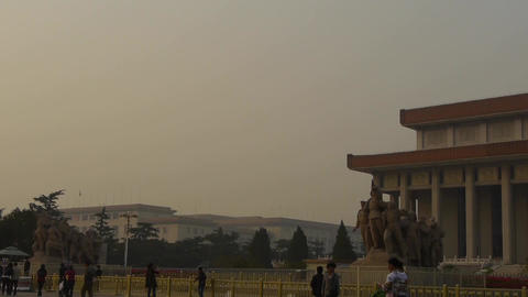 china beijing revolutionary martyrs sculpture on square... Stock Video Footage