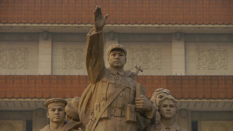 china beijing revolutionary martyrs memorial sculpture... Stock Video Footage