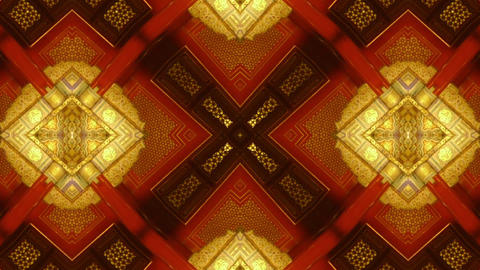 Beautiful Asia Chinese Oriental Traditional Pattern.four Consecutive Fractal Kaleidoscope Art. stock footage
