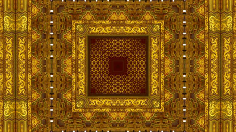Oriental traditional pattern.four consecutive fractal kaleidoscope art Animation