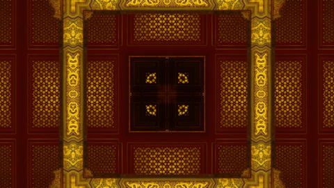 Oriental traditional pattern.four consecutive fractal... Stock Video Footage