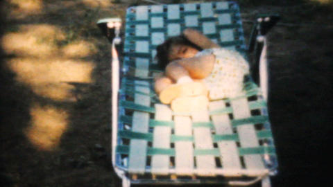 Family Picnic At The Park 1964 Vintage 8mm film Stock Video Footage