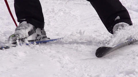 Ski Trail HD Stock Video Footage