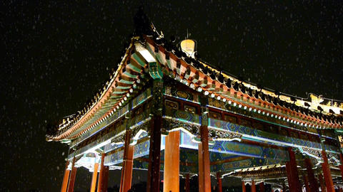 China Beijing ancient architecture pavilions &... Stock Video Footage