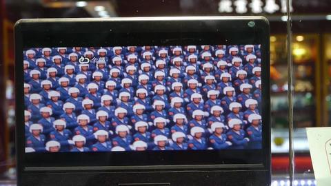 TV in store showcase,China Parade video program Animation