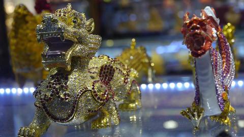 gilded & diamond artwork in store cupboard Animation