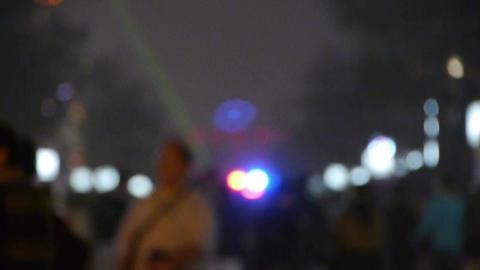 Crowd Walk on Chinatown,blur China Beijing night... Stock Video Footage