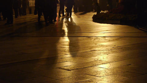 timelapse busy crowd foot walking & inverted image on... Stock Video Footage