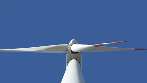wind turbine med up loopable 10872 Stock Video Footage