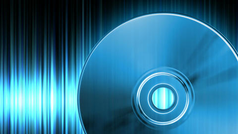 Audio CD Stock Video Footage